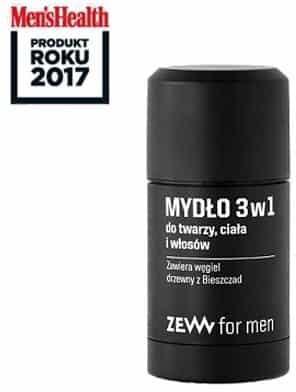 zew for men Mydło 3 w 1 do twarzy, ciała i włosów z węglem drzewnym 85ml ZEW For Men