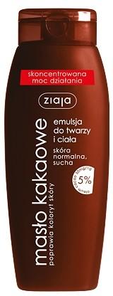 Ziaja Masło Kakaowe Emulsja do twarzy i ciała 5% oleum cacao 200ml