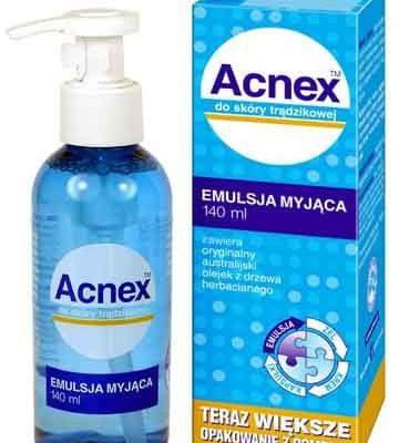 Acnex Emulsja myjąca z olejkiem z drzewa herbacianego 140ml Farmina