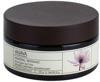 Ahava Mineral Botanic odżywcze masło do ciała lotos i kasztan Paraben Free 235 g