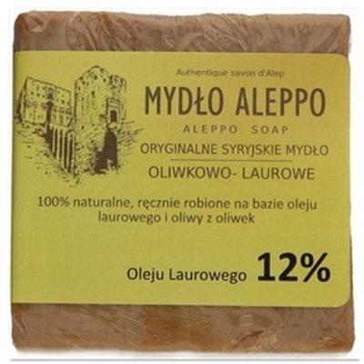 ALEPPO Biomika Naturalne Mydło 12% Oleju Laurowego Do Pielęgnacji Ciała 190g