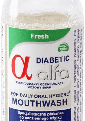Alfa Atos DIABETIC Fresh 50ml - zioły płyn do płukania jamy ustnej w wersji podróżnej