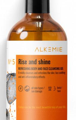 Alkemie Alkemie RISE AND SHINE Odświeżający żel do mycia twarzy i ciała 250ml 44331-uniw