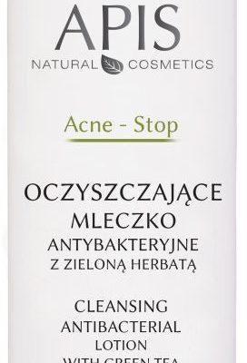 Apis Professional Acne-Stop oczyszczające mleczko antybakteryjne z zieloną herbatą 200 ml
