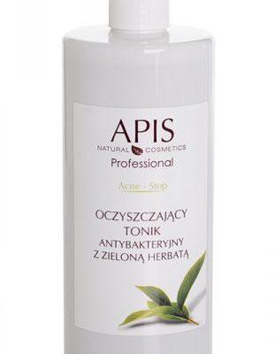 Apis Professional Acne-Stop oczyszczający Tonik antybakt. z zieloną herbatą 500ml