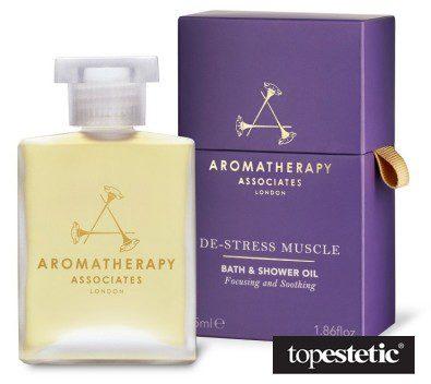 Aromatherapy Associates De-Stress Muscle Bath & Shower Oil Odprężający mięśnie olejek do kąpieli i pod prysznic 55 ml