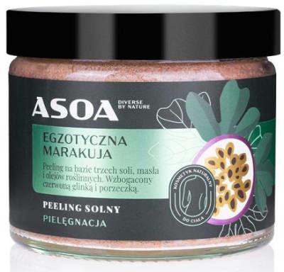 Asoa Peeling solny - egzotyczna marakuja 250ml Asoa