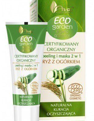 Ava Laboratorium Eco Garden Organiczny Peeling i Maska 2w1 Ryż z Ogórkiem 30ml 5906323001371