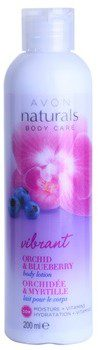 Avon Naturals Body mleczko do ciała z orchideą i jagodą 30 H Moisture And Vitamins 200ml