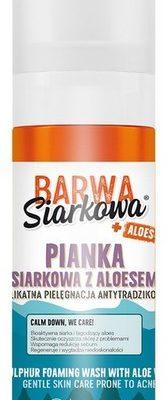 Barwa Siarkowa Pianka myjąco-łagodząca z aloesem 150ml