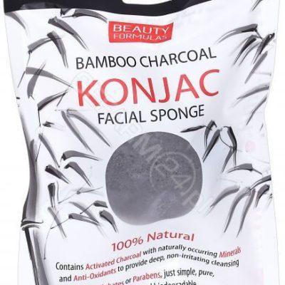 BEAUTY F TWARZ Gąbka z Węglem z Bambusa 100% Beauty Formulas