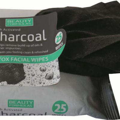 BEAUTY FORMULAS Beauty Formulas Charcoal Chusteczki oczyszczające z aktywnym węglem  1op.-25szt SO_88106