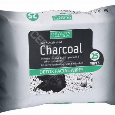 BEAUTY FORMULAS Beauty formulas chusteczki DETOX z aktywnym węglem x 25 szt
