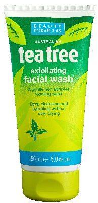 Beauty Formulas Tea Tree Żel złuszczający do mycia twarzy 150ml Beauty Formulas