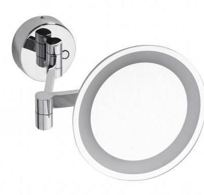 Bemeta Lusterko kosmetyczne naścienne 200 mm z oświetleniem LED podwójnym 116101802 116101802