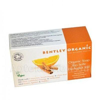 Bentley Organic Odżywiające mydło z cynamonem 150 g