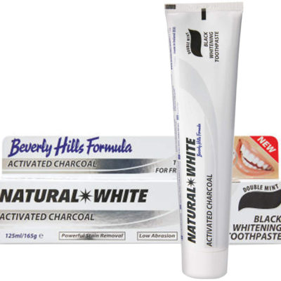 Beverly Hills BEVERLY HILLS Natural White ACTIVATED CHARCOAL 125ml - pasta wybielająca z aktywnym węglem