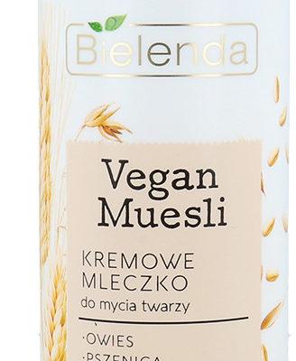Bielenda Bielenda Vegan Muesli Nawilżające Kremowe Mleczko Do Mycia Twarzy Każdy Rodzaj Cery, Również Wrażliwa 175g