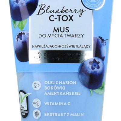 Bielenda Blueberry C-TOX Nawilżająco - Rozświetlający Mus Do Mycia Twarzy 135g