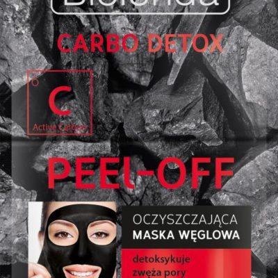 Bielenda Carbo Detox, maska węglowa oczyszczająca peel-off, 2x6 g