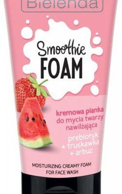 Bielenda Smoothie Foam Pianka nawilżająca, prebiotyczna Truskawka + Arbuz 150g