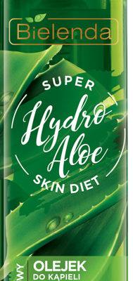 Bielenda Super Skin Diet Hydro Aloe Nawilżający olejek do kąpieli i pod prysznic Aloes 400ml