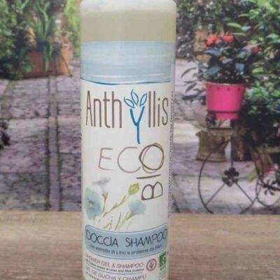Bio Anthyllis Eco Anthyllis, Pierpaoli - SZAMPON I PŁYN, ŻEL POD PRYSZNIC Z WYCIĄGIEM Z LNU I PROTEINAMI RYŻU, 250 ML