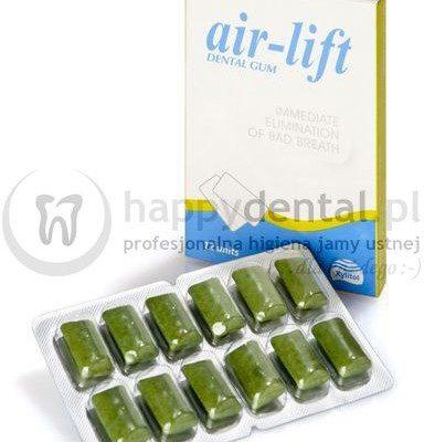 Biocosmetics AIR-LIFT Chewing Gum 12szt. - bezcukrowa guma do żucia zwalczająca nieświeży oddech (halitozę)