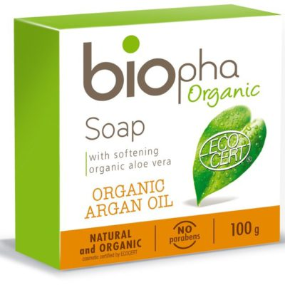 BIOpha Organic ORGANIC Mydło naturalne bogate w olej Arganowy 100g em_BPH09144