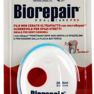 Biorepair BIOREPAIR ULTRA PIATTO - ultrapłaska nić niewoskowana do zębów o smaku mięty - 30 m