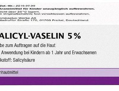 Bombastus-Werke AG Maść salicylowa  z wazeliną 5% 100 ml