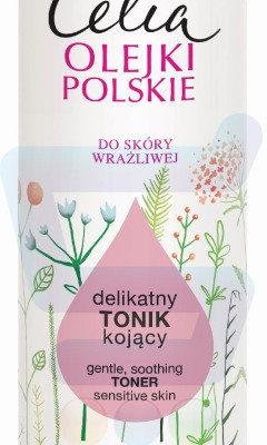 Celia Olejki Polskie Tonik kojący do twarzy Len i Bawełna Skóra wrażliwa 200 ml