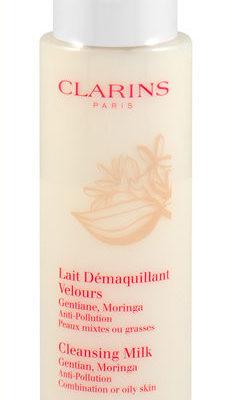 Clarins Anti-Pollution, mleczko do demakijażu z gencjaną do cery miesznej i tłustej, 200 ml
