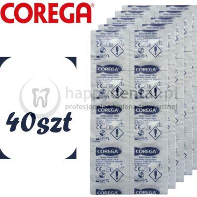 Coswell COREGA Tabs 40szt. - tabletki do czyszczenia protez zębowych i aparatów ortodontycznych
