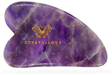 Crystallove Crystallove Płytka do masażu twarzy guasha z Ametystu