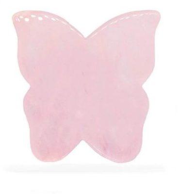 Crystallove Crystallove Płytka Motylek do masażu twarzy gua sha z Kwarcu Różowego cry-108-1-10648