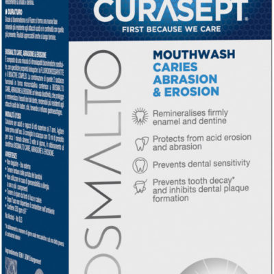 Curasept CURASEPT BIOSMALTO Caries Abrasion & Erosion 300ml - płyn do płukania ust przeciw próchnicy, remineralizujący (E885)