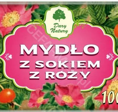 DARY NATURY Dary natury mydło z sokiem z róży 100 g
