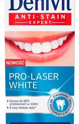 Denivit Anti-Stain Expert Pasta Do zębów Pro-Laser White 50ml