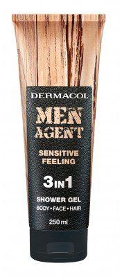 Dermacol Men Agent Sensitive Feeling 3in1 żel pod prysznic 250 ml dla mężczyzn