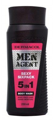 Dermacol Men Agent Sexy Sixpack 5in1 żel pod prysznic 250 ml dla mężczyzn