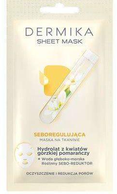 Dermika DERMIKA_Sheet Mask seboregulująca maska na tkaninie Hydrolat z Kwiatów Gorzkiej Pomarańczy 15ml p-5902046764333