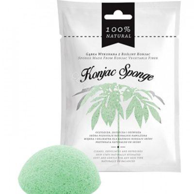 Diet-Food Diet-Food Konjac Sponge gąbka do twarzy z rośliny konjac Zielona/Green 1szt