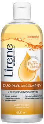 Dr Irena Eris Micel Pure & Nutri, Duo płyn micelarny z olejkiem rycynowym, 400 ml