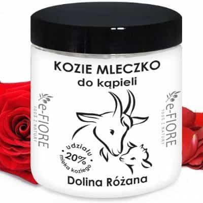 e-FIORE Kozie mleko do kąpieli z kolagenem, pantenolem, olejkiem jojoba Dolina Różana 400g