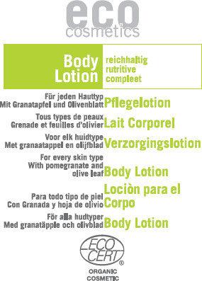 Eco Cosmetics Balsam pielęgnacyjny do ciała z liściem oliwnym i owocem granatu 5 ml