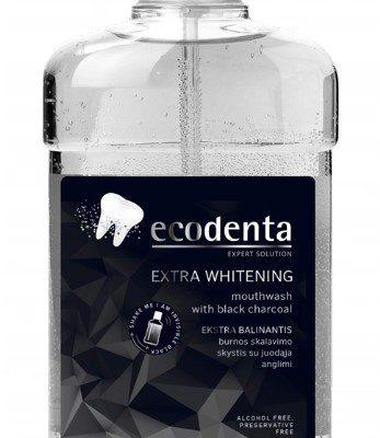 Ecodenta Ecodenta Extra Whitening 500 ml Płyn do płukania zębów z Czarnym Węglem Ecodenta