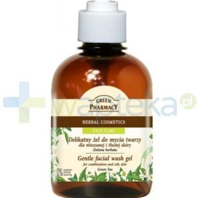 Elfa Green Pharmacy Delikatny żel do mycia twarzy dla mieszanej i tłustej skóry Zielona herbata 270 ml