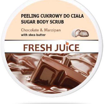 Elfa Pharm Fresh Juice Peeling cukrowy do ciała Chocolate & Marzipan z masłem shea 225 ml 7079751