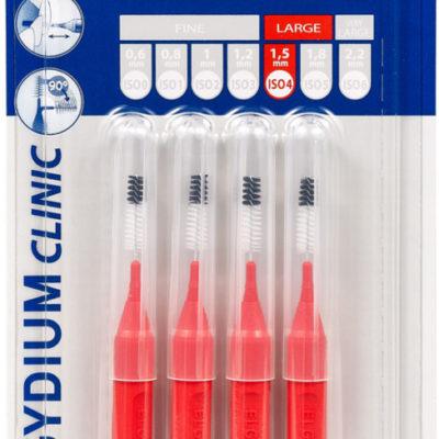 ELGYDIUM Mono COMPACT-4 (czerwone) 4szt. - szczoteczki międzyzębowe 1,5mm - NOWOŚĆ